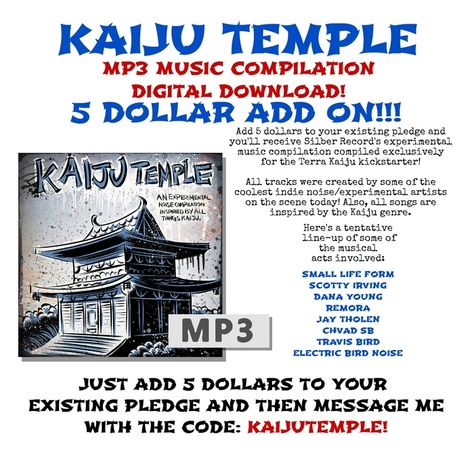 Here\u0027s a new Reward Add On for my kickstarter comic book Terra Kaiju - pledge form