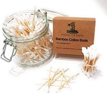 200 1 Boite Cotons Tiges En Bambou Cotons Tiges Fabriques A Partir De Bambou Biologique Et De Cot Coton Demaquillant Lavable Coton Demaquillant Demaquillant