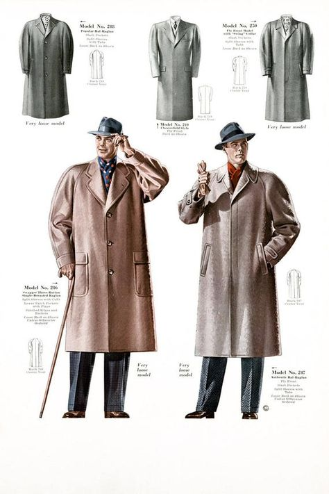 Mens Fashion Poster, Retro 1930s