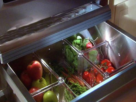Produce drawer dividers