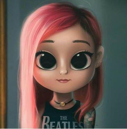 Hair Drawing Pink Character Design 24 Ideas Cute Drawings Cute Cartoon Girl Kawaii Girl Drawings