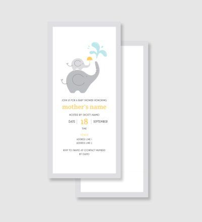Baby Shower Invitations And Announcements Templates Designs
