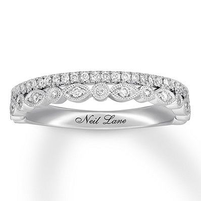Neil Lane Studio Diamond Wedding Band 1 4 Ct Tw 14k White Gold 940385228 Kay Diamond Wedding Bands Diamond Wedding Bands Stackable Stackable Wedding Bands