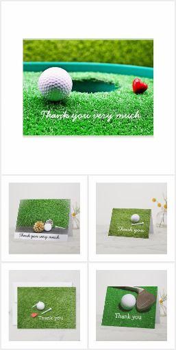 Golf Thank You Card To Golfer Golf Birthday Cards Golf Birthday Congratulations Card