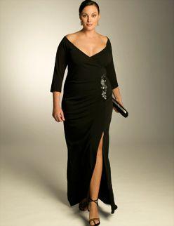 Buyuk Beden Yirtmacli Abiye Elbise Modelleri Siyah Uzun Genis Yaka Yirtmacli Abiyemodelleri Buyukbeden Dugunkiyafetl Elbise Modelleri Elbise Maksi Elbiseler