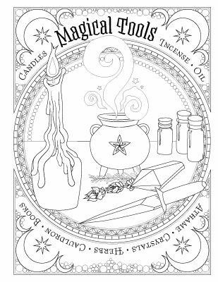 Pin By Diana Naylor Scott On Coloring Witch Coloring Pages Book Of Shadows Coloring Books