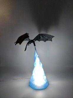 3d Printed Dragon Lamp Lamp Novelty Lamps Cool 3d Prints