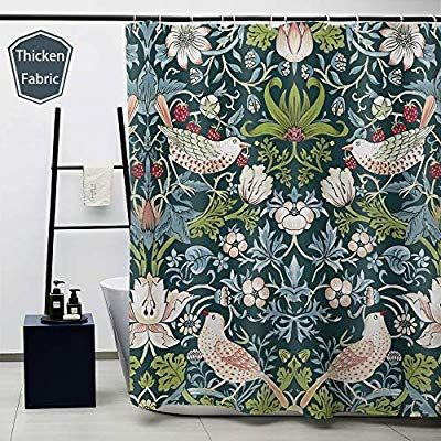 Obal William Morris Shower Curtain Strawberry Thief Bath Curtains