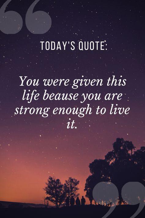 Todays quote: