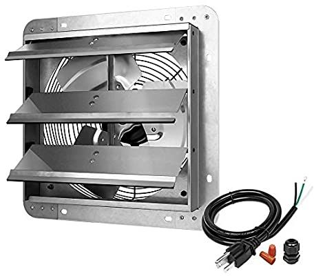 Amazon Com Ipower 12 Inch Shutter Exhaust Fan Aluminum High Speed 1620rpm 940 Cfm 1 Pack Silver Home Kit In 2020 Exhaust Fan Whole House Fan Workbench Plans Diy
