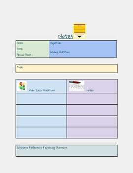 This Pdf Can Be Saved As A Google Doc It Can Be Assigned Via Google Classroom Or Emailed To Your Students And They Can M Notetaking Google Classroom Classroom