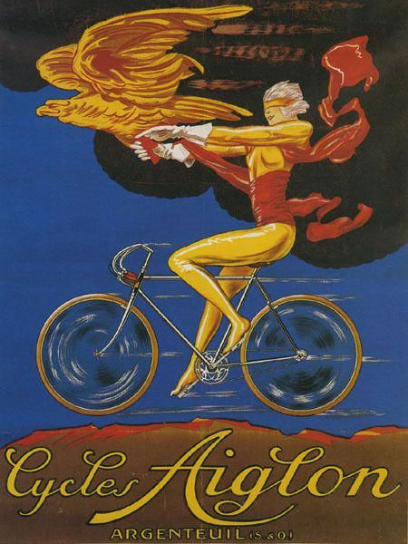 POSTER CLEMENT CYCLE BICYCLE FRENCH CYCLING BIKE VINTAGE REPRO FREE S//H