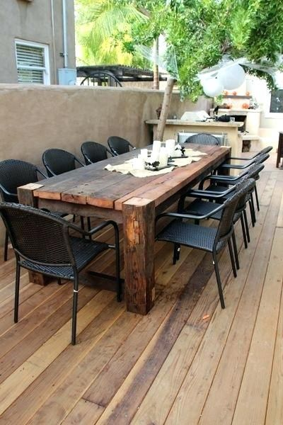 Image Result For Wood Patio Table Iron Chair Outdoor Patio Table