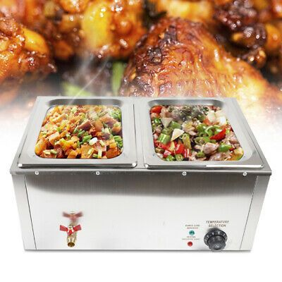 Details About 850w Commercial Electric Food Warmer Steam Table Steamer Buffet Countertop 2 Pan In 2020 Food Food Warmers Electric Foods