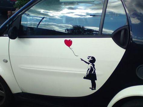 Sea View Stickers VW Banksy Balloon Girl Car Van Sticker