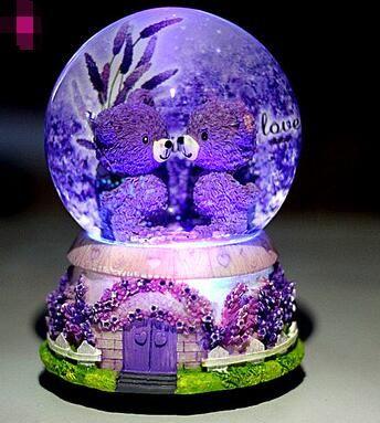RONG-719 + crystal ball muziekdoos muziekdoos sneeuwvlok bestie creative verjaardagscadeau vriendin mannelijke kind