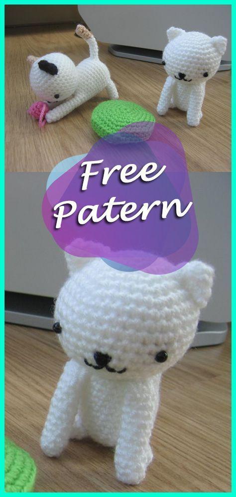 PATTERN: Kaylie the Kitten - Crochet cat pattern - amigurumi cat ... | 997x474
