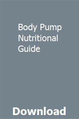 Les Mills Pump Nutrition Guide Pdf