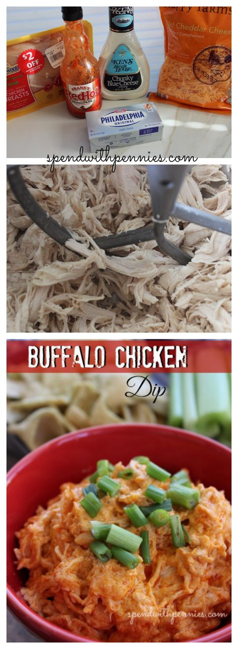 Seriously delicious Buffalo Chicken Dip!  Perfect for when you want wings without the fuss...  and this dip is ALWAYS a hit!  <3