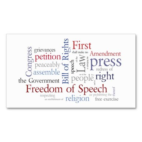 First Amendment Card For Journalist Lawyer  Lawyer And Business