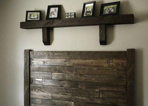 Headboard, Home Furnishings, Reclaimed Wood Headboard, Queen Headboard, Rustic Headboard, Distressed Wood, Repurposed Wood, on Etsy, $300.00
