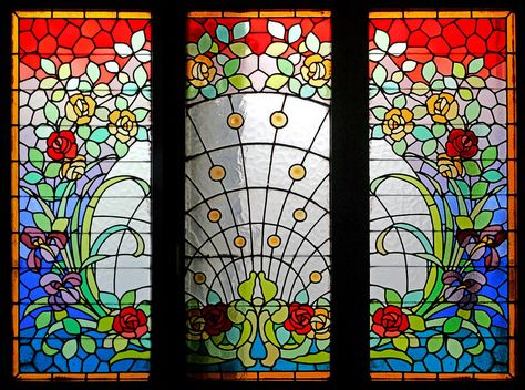 Barcelona Passeig Sant Joan 051 R Antique Stained Glass Windows Stained Glass Flowers Stained Glass Window Panel