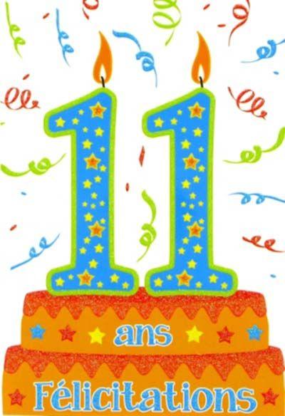 carte anniversaire 11 ans image anniversaire fille 11 ans (avec images)   Carte invitation