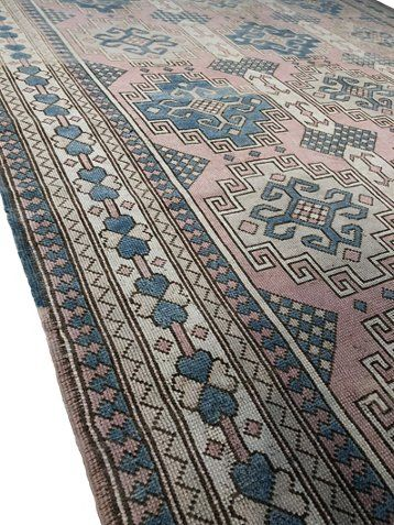 7 10 X12 Turkish Hand Knotted Rug Pink Blue Now 2 049 00 Was 3 065 00 Rugs Area Rugs Hand Knotted Rugs