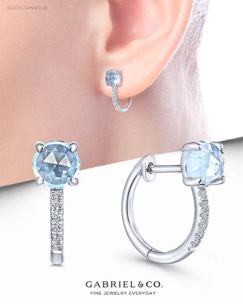 Sterling Silver Gemstone et Topaz Accent Ovale Couronne boucles d/'oreille