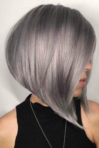 Pin By Alia Maisarah On Hair Girl Grey Hair Color Short Grey Hair Hair Styles