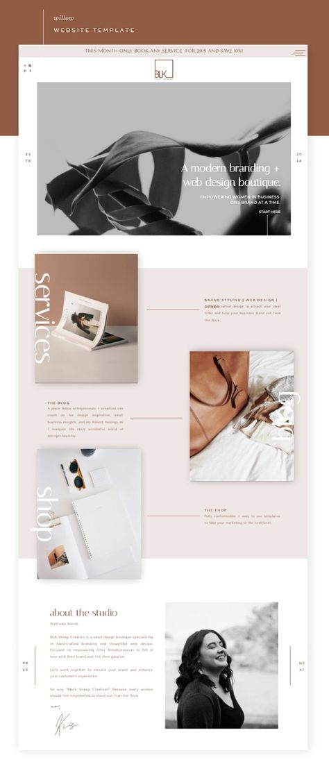 A Modern Branding and Web Design Boutique Template