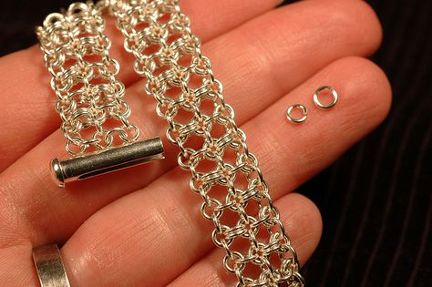 Free Chainmail Patterns Chain Maille | Lace Squared Chain Maille Bracelet | Flickr - Photo Sharing!
