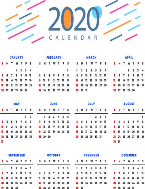Calendar 2020 Holidays Calendar 2020 Calendar