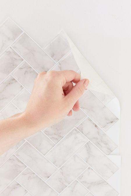 Assembly Home Acrylic Curtain Rod Adhesive Backsplash Adhesive Tiles Herringbone Tile