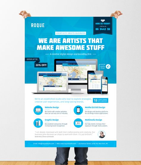 Design Services (Web/App/Graphic) Flyer/Poster Template Graphic