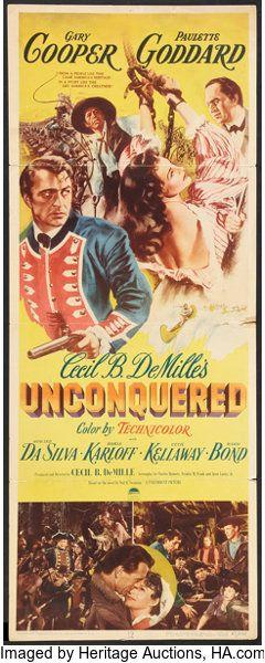 Unconquered Gary Cooper Paulette Goddard movie poster 1