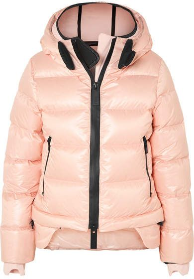 91bcee705f1 TEMPLA - Nano Hooded Quilted Shell Down Coat - Pink