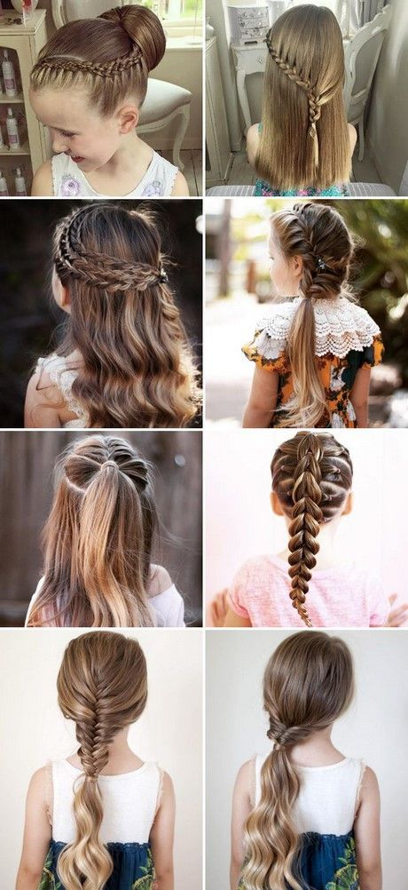 Cute Hairstyles For Picture Day At School Different Hairstyles For Kids Girls Hair Styles Medium Hair Styles Cute Little Girl Hairstyles
