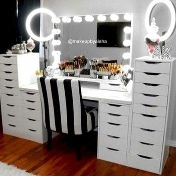 Makeup Room Ideas room DIY (Makeup room decor) Makeup Storage Ideas For Small Space - TAG: Diy Makeup vanity ideas, Diy makeup storage ideas, Makeup organization diy, Makeup desk