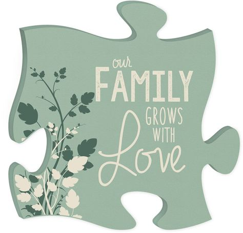 Wood Puzzle Wall Decor Our Family Grows With Love Wall Art