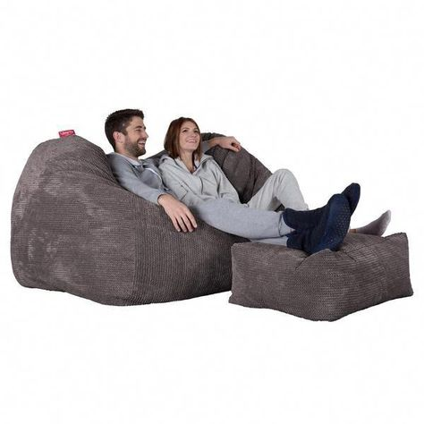 Zitzak Outlet Alkmaar.Lounge Pug Charcoal Grey Giant Bean Bag Sofa Mega Beanbag Sofa Uk