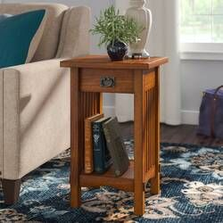 Wilfredo End Table Mission Style End Tables Side Table With Storage End Tables With Storage