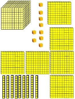 Place Value Block Printables Place Values Blocks