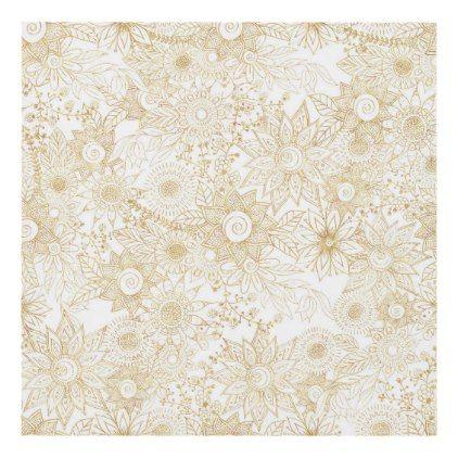 Elegant Golden Floral Doodles Design Panel Wall Art Zazzle Com Floral Doodle Doodle Designs Doodle Illustration