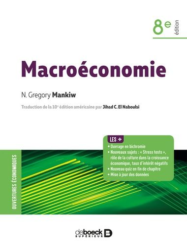 Macroeconomie 8e Edition Gregory Mankiw Macroeconomie Telechargement Science Economique