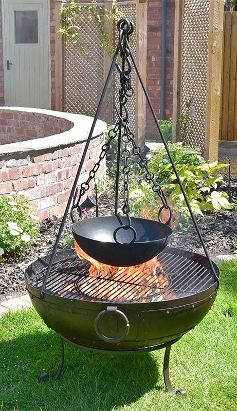 Kadai Fire Bowl Complete Cooking Set Fire Bowls Fire Pit Bbq Cool Fire Pits