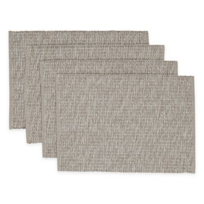 Casual Twist Rib Placemats Set Of 4 Bed Bath Beyond Placemats Weaving Techniques Placemat Sets