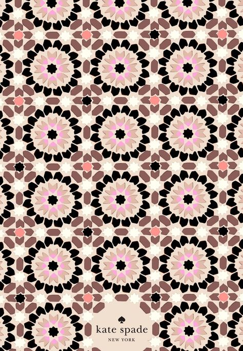Geometric tile work around palm springs inspired our floral mosaic print fo