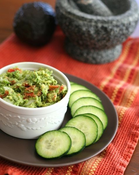 Smoked Salmon Guacamole - an unusual but delicious combo!