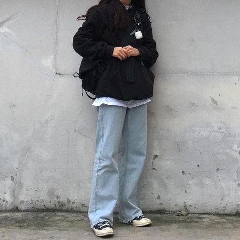 g e o r g i a n a - korean fashion aesthetic outfits minimal minimalist minimalistic soft kfashion ulzzang girl 얼짱 c - Vintage Outfits, Retro Outfits, Grunge Outfits, Vintage Fashion, Korean Outfits, Mode Outfits, Fashion Outfits, Korean Clothes, Latest Outfits